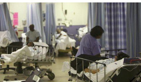 Empty hospitals.