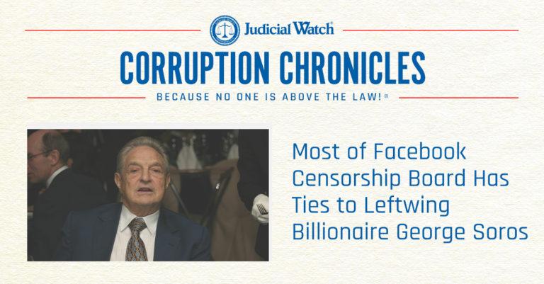 Facebook Censors & George Soros